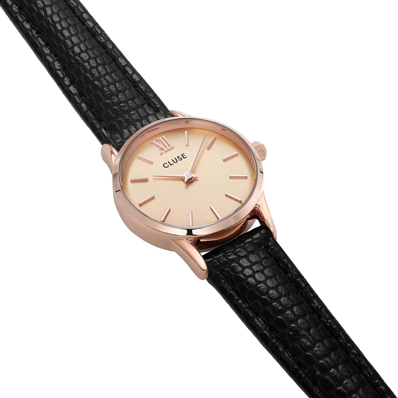 CLUSE Reloj Analógico para Mujer de Cuarzo con Correa en Cuero CL50028: Amazon.es: Relojes