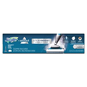 "Swiffer PGC 85801 Bissell Steam Boost Mop, 10"" Wide Head, 48"" Handle"