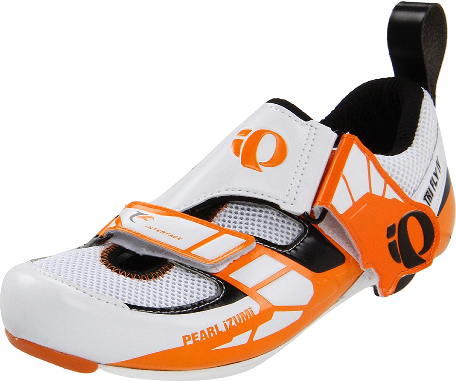 Pearl iZUMi Men's Tri Fly IV Carbon Cycling Shoe B00592984I 40 EU/7 D US|White/Black