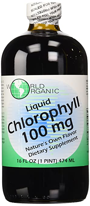 World Organics Chlorophyll Supplement, 100 mg, 16 Ounce