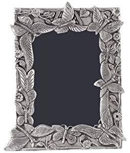 Beautiful Handcrafted Antique Butterfly Aluminium Metal Photo Frame Size 22 x 16 x 2