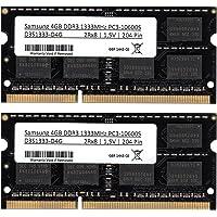 Samsung PC3 10600 Lot de 2 barrettes mémoire de 4 Go (RAM) 1333 MHz DDR3 SO-Dimm pour ordinateur portable et notebook