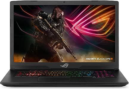 """ASUS ROG Strix Scar Edition Gaming Laptop, 17.3"""" 144Hz 3ms Full HD, Intel Core i7-8750H, GeForce GTX 1070 8GB, 16GB DDR4, 256GB PCIe SSD + 1TB FireCuda, Windows 10 - GL703GS-DS74"""