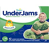 Pampers UnderJams Bedtime Underwear for Boys, Size Large/X-Large Diapers, 42 Count