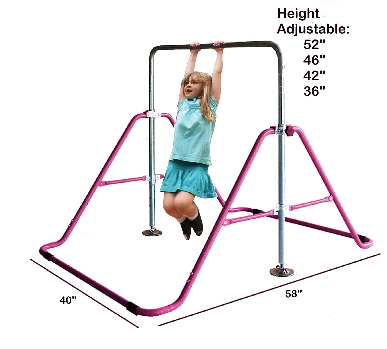 Kidsジャングル子Monkeyバー体操タワータンブルAthletic Expandable Kipバランスバージュニアトレーニング登山子再生トレーニングジムイエロー   B07D66S2BY