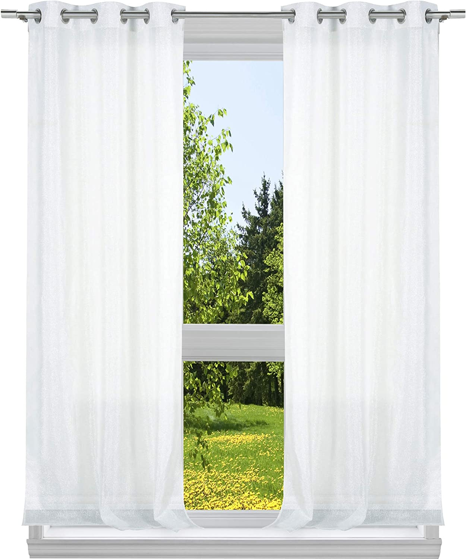 kensie Metallico Metallic, 37x96, White