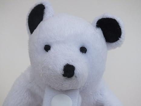 Peluche Chupete Holder por * Parker el oso polar * - Fuerte chupete / clip de soothie desmontable - Cambiar chupetes para limpiar., Mimoso, ...