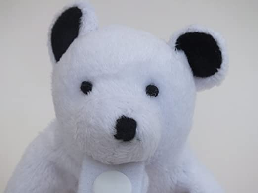 Peluche Chupete Holder por * Parker el oso polar * - Fuerte chupete / clip de soothie desmontable - Cambiar chupetes para limpiar., Mimoso, amigo de los ...