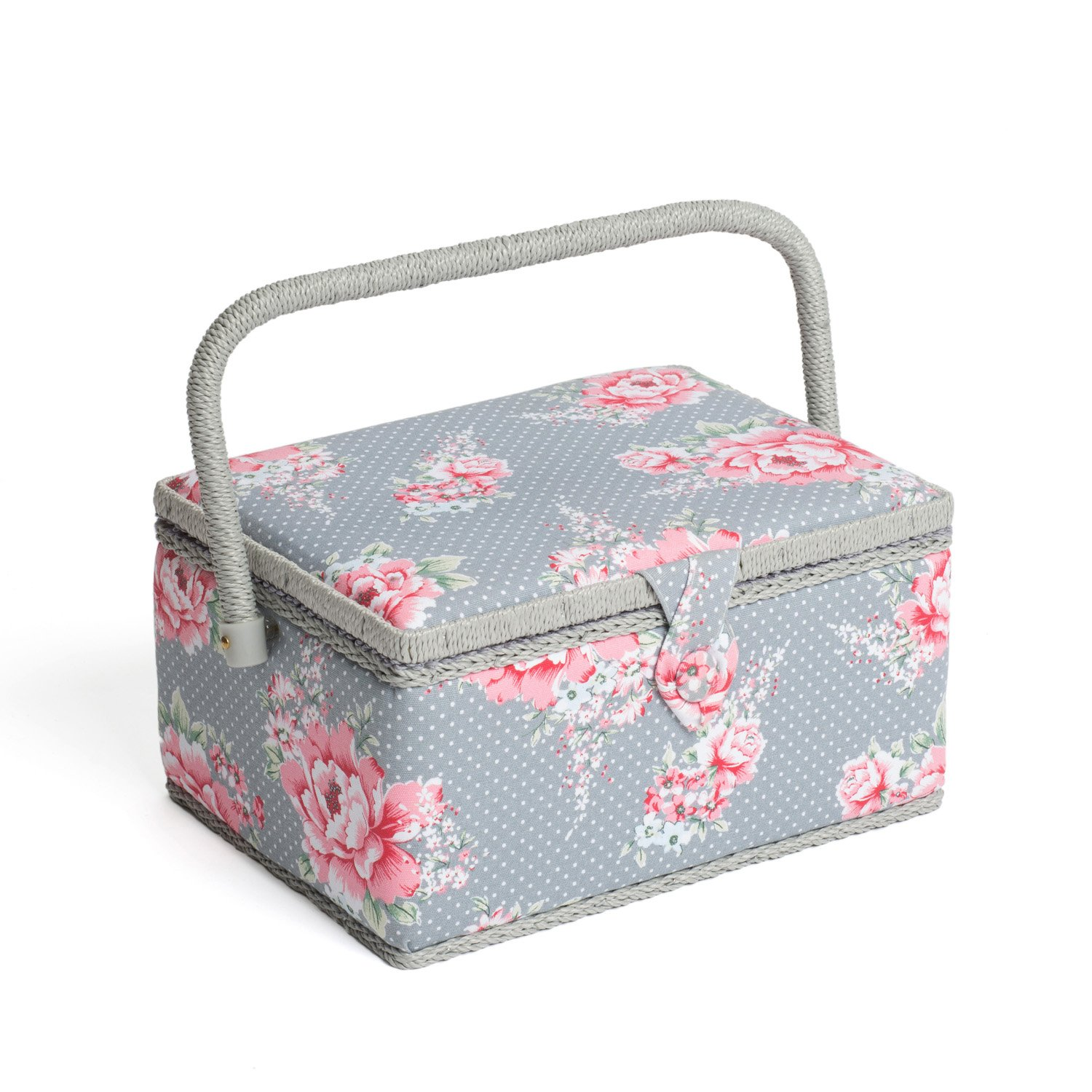 Hobbygift Groves Exclusive Print Collection Sewing Box, Cotton Blend, Beautiful Bloom, Medium MRM\190