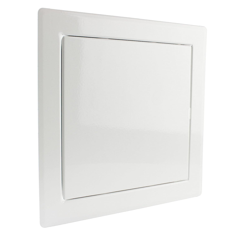 20125-002 Revisionsklappe Revisionst/ür Wartungs-Inspektionsklappe Metall pulverbeschichtet wei/ß 300 x 400 mm MKK