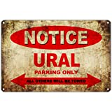 "URAL Motorcycles Bikes Only All Others Will Be Towed Parking Sign Vintage Retro Metal Decor Art Shop Man Cave Bar Aluminum 8""x12"" Sign Plate"