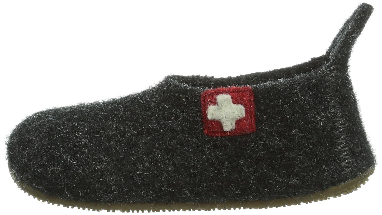 Living Kitzb/ühel Unisex-Kinder Slipper Schweizer Kreuz Hohe Hausschuhe