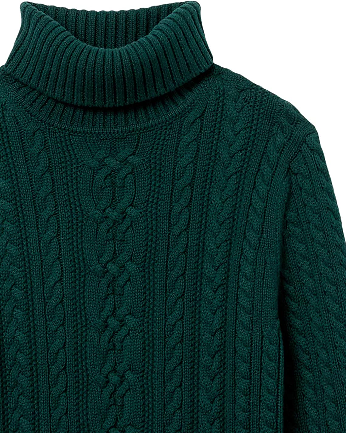 Essentials Fisherman Cable Turtleneck Sweater Mujer
