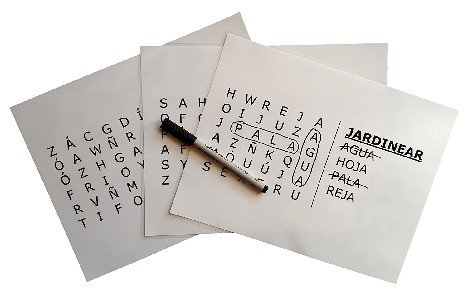Keeping Busy Nivel 1 Fácil Spanish Word Search Dementia and Alzheimer's Grab Go Engaging Activity for Older Adults