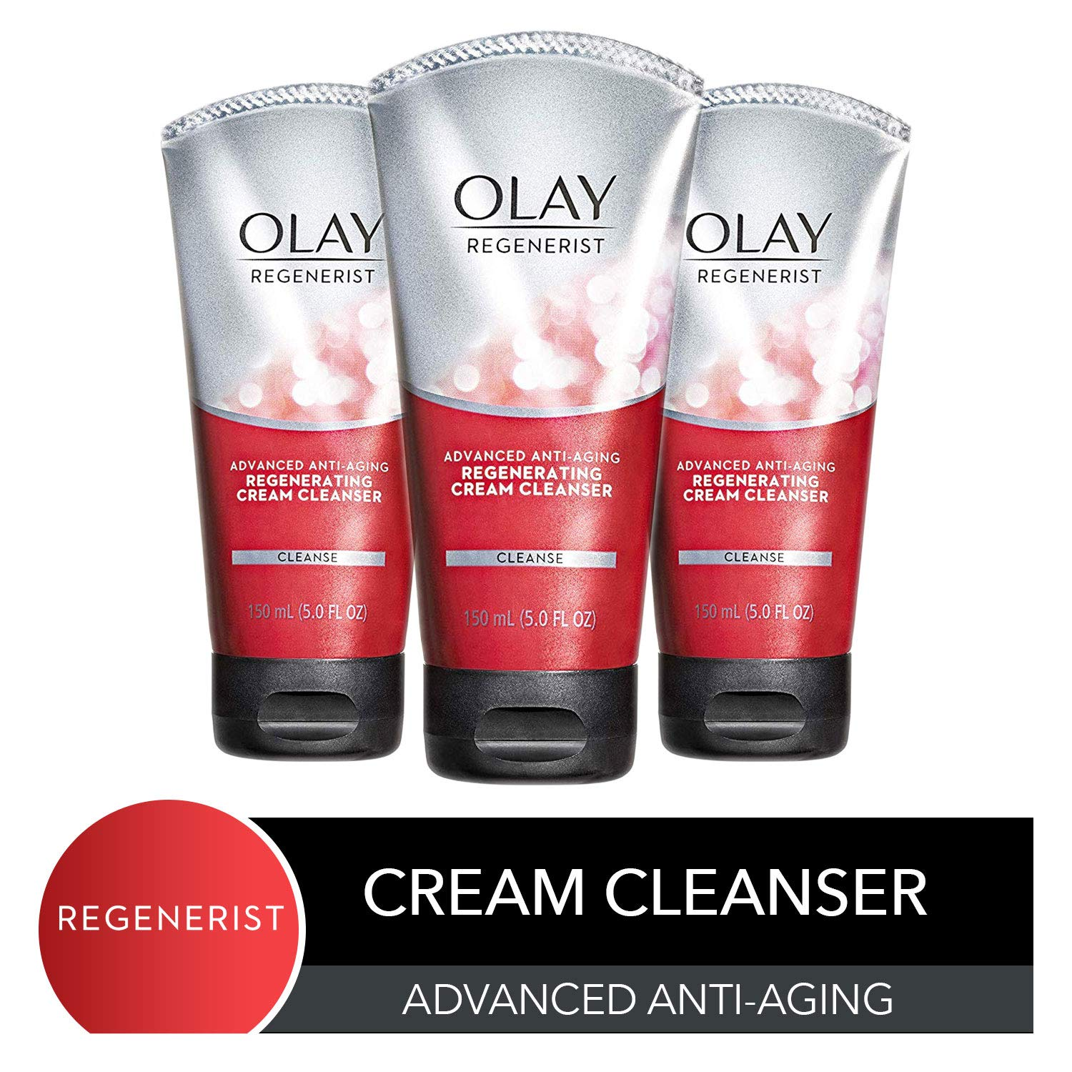 Olay Regenerist Regenerating Cream Face Cleanser, 5 Fl. Oz (Pack of 3) by Olay