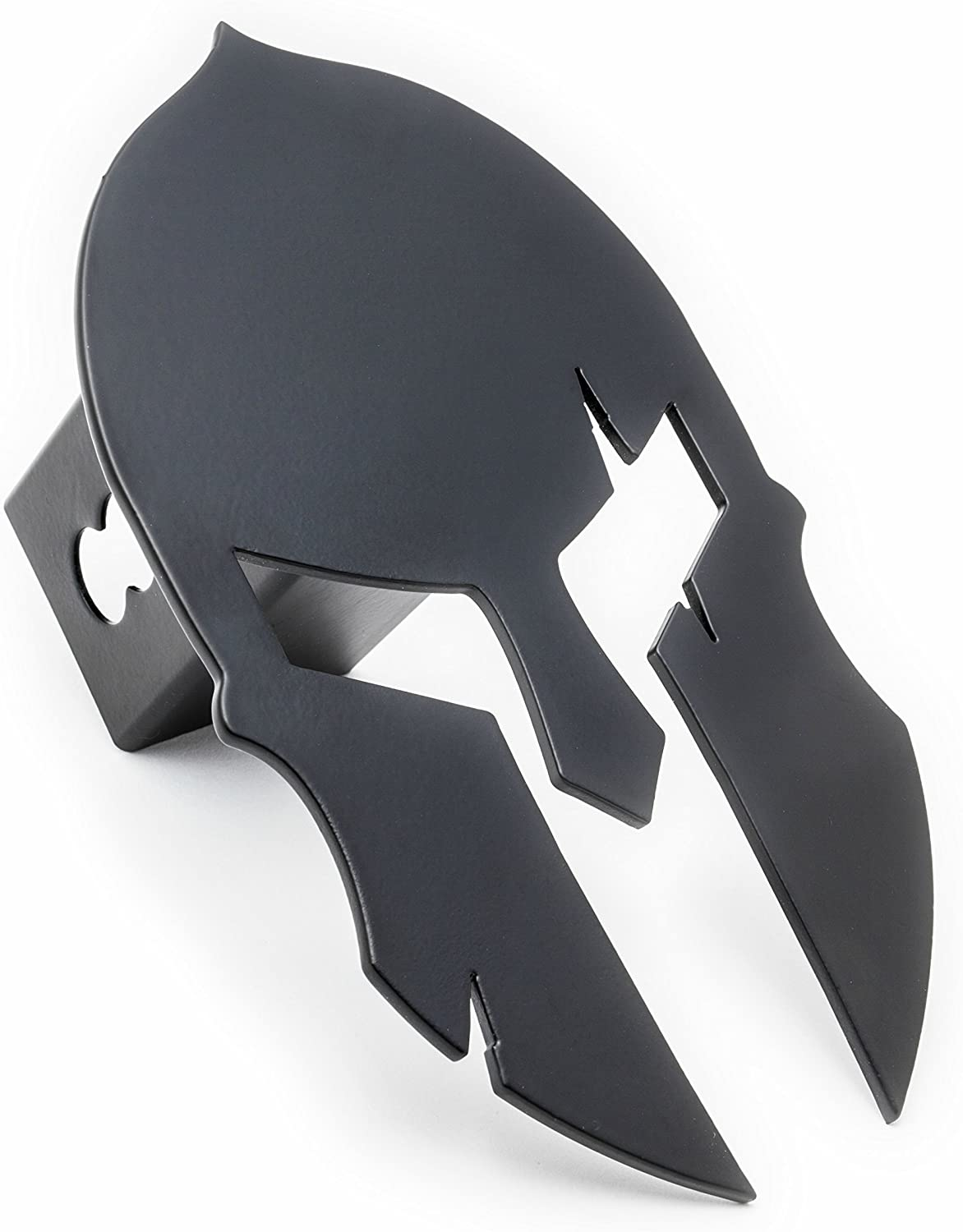 Spartan Trailer Hitch Cover Special Grade A Steel Fits 2 inch Tube Receiver Matte Black