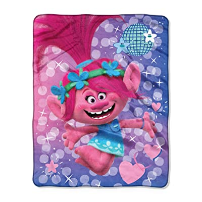 "Kids Warehouse DreamWorks Trolls Bright Star Throw Blanket - 50"" by 40"": Home & Kitchen"