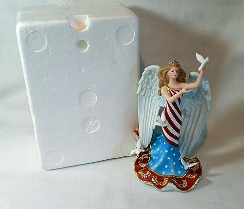 Lenox God Bless America Angel Figurine Nib coa