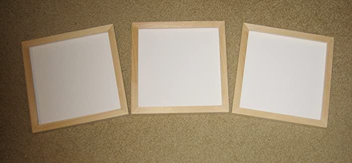 Amazoncom Unfinished Wood 8x8 Picture Frames Lot Of 3 Includes
