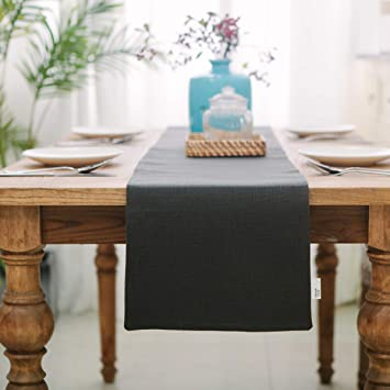 Brilliant Natus Weaver Dinning Table Runner 12 X 36 Inches Farmhouse Kitchen Coffee Burlap Table Runner For Holiday Party Dark Grey Download Free Architecture Designs Intelgarnamadebymaigaardcom