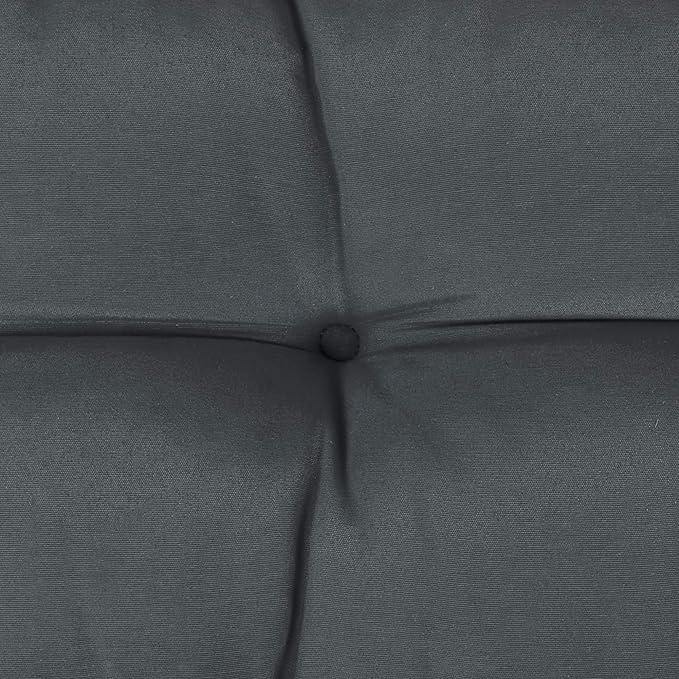 Beautissu Cojines para palés Eco Style - Cojín de Respaldo 120x40x10-20 cm : Gris Grafito - Cojín: Respaldo (1 Pieza)