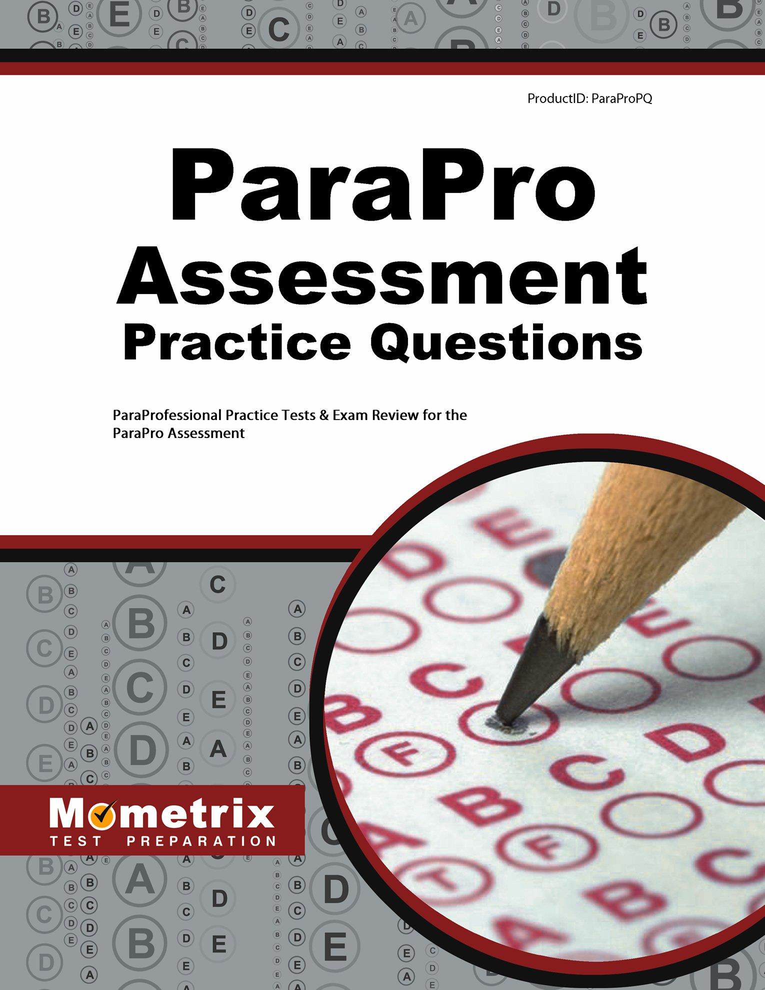 Parapro Assessment Practice Questions Paraprofessional Practice