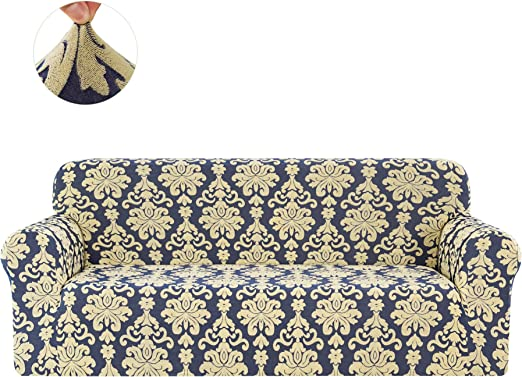 CHUN YI 1 Piece spandex stretch Jacquard couch sofa covers protector slipcovers