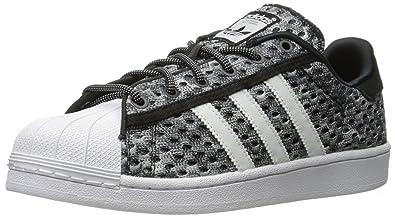 adidas Originals Men's Superstar Glow-In-The-Dark Shoes,Black/White