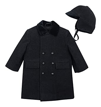 05ae32ea2 Amazon.com  Rothschild Little Boys  Double Breasted John John Coat ...