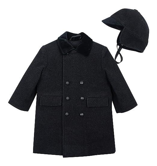 577401be323c Amazon.com  Rothschild Little Boys  Double Breasted John John Coat ...