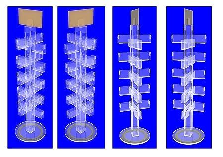 Greeting card display stand rack rotating acrylic clear lucite greeting card display stand rack rotating acrylic clear lucite plexiglass m4hsunfo
