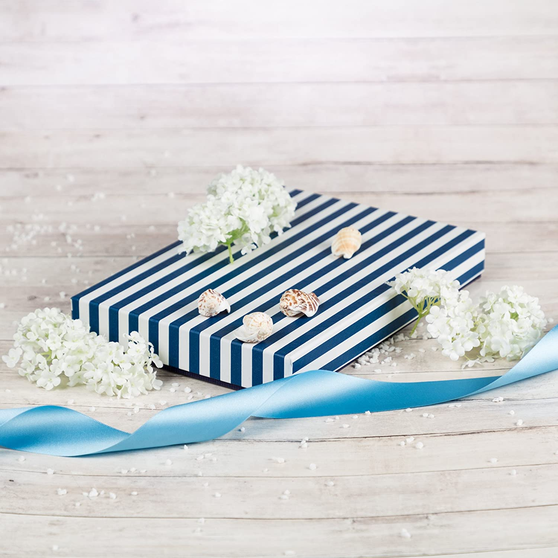 Giftisimo Ilona II Dekorative Handarbeitete Geschenkbox blaue streife
