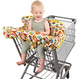 Homeries Shopping Cart Cover for Babies & Toddlers - High Chair Seat Cover for Restaurants & Homes - with 2 Toys…