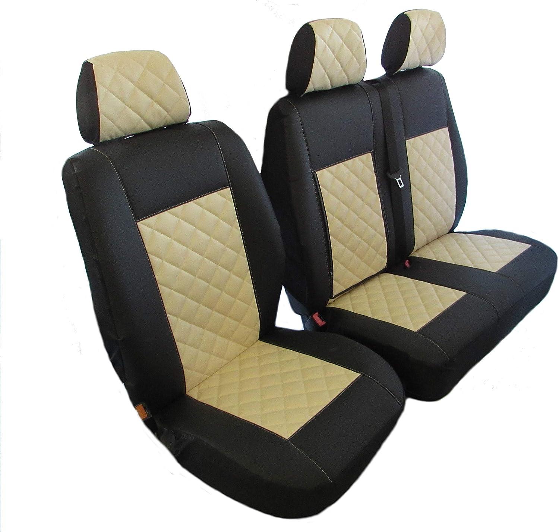 Fiat Ducato 2+1 Eco Cuero Universal Fundas de los asientos delanteros