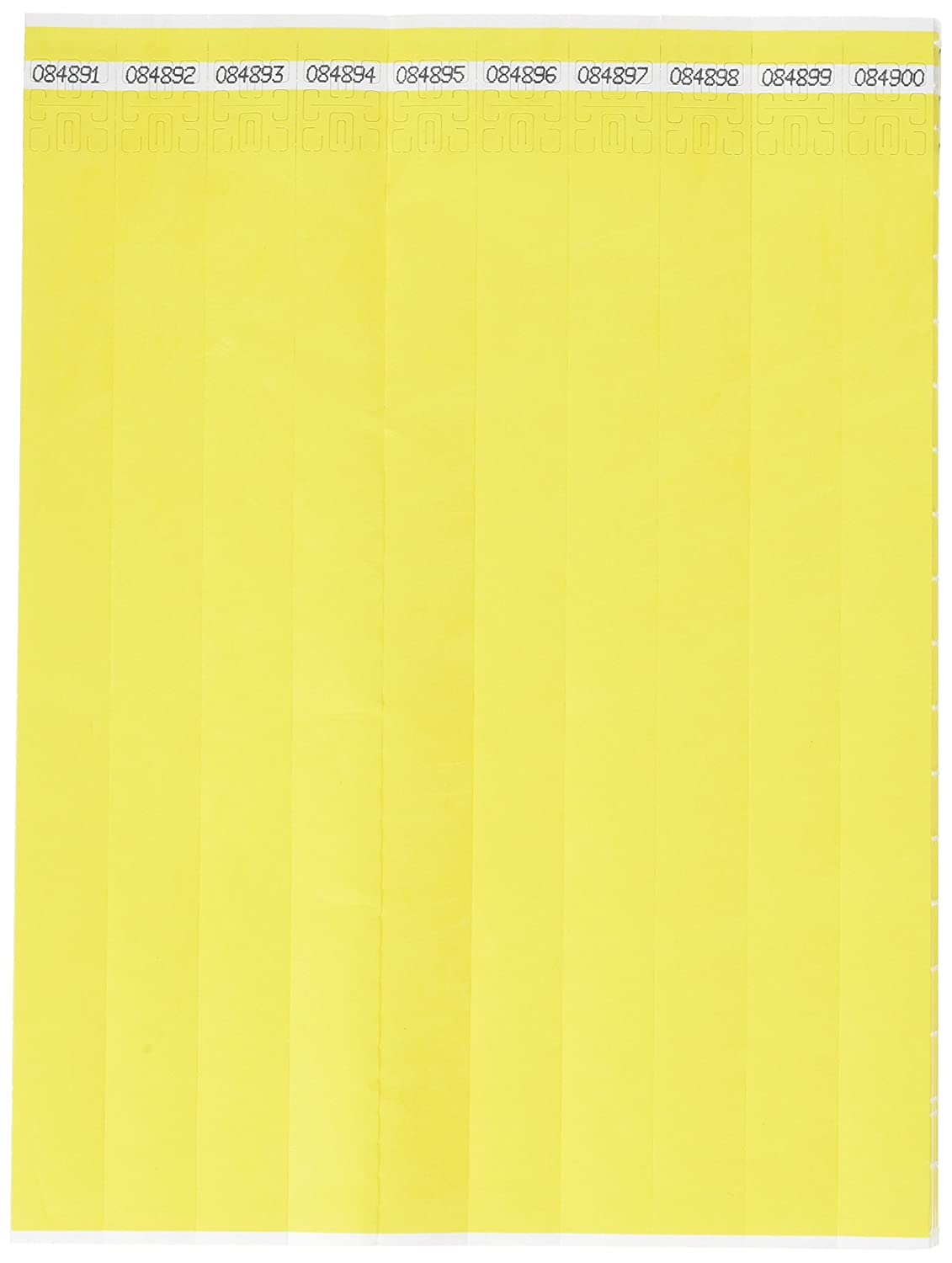 Yellow 3//4 NTS-14-PDM Mayflower Distributing Company 100 Count Tyvek Wristband 3//4