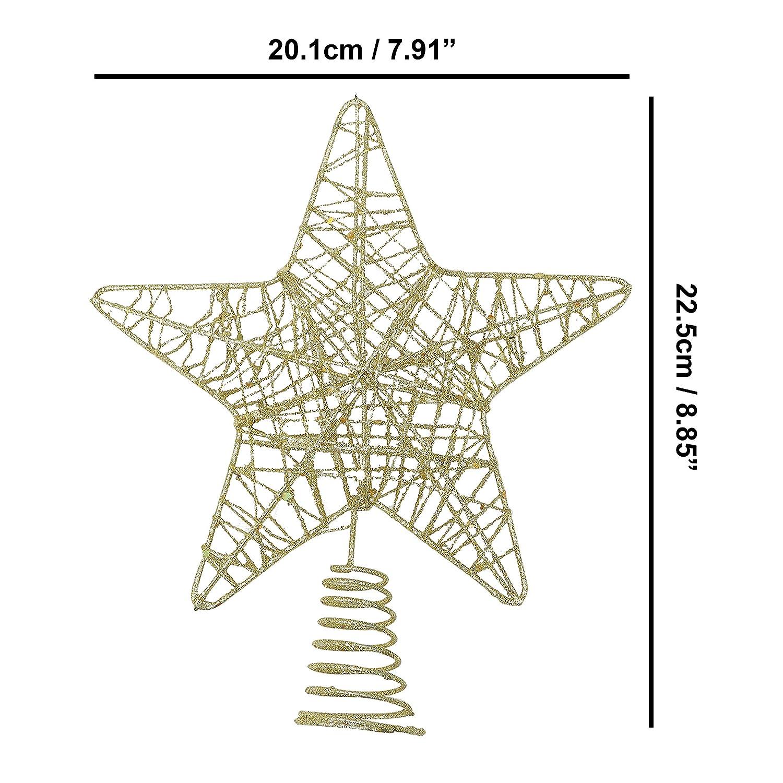 BELLE VOUS Decoracion Arbol Navidad - Adornos Árbol Navidad Coronar Arbol - 2