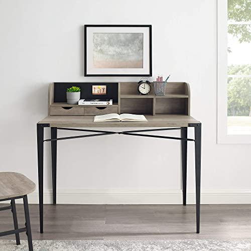 WalkerEdisonFurniture Company 42″ Industrial Secretary Desk