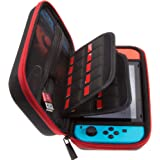 Butterfox Carrying Case for Nintendo Switch with 20 Game Cartridge Holders - Red/Black