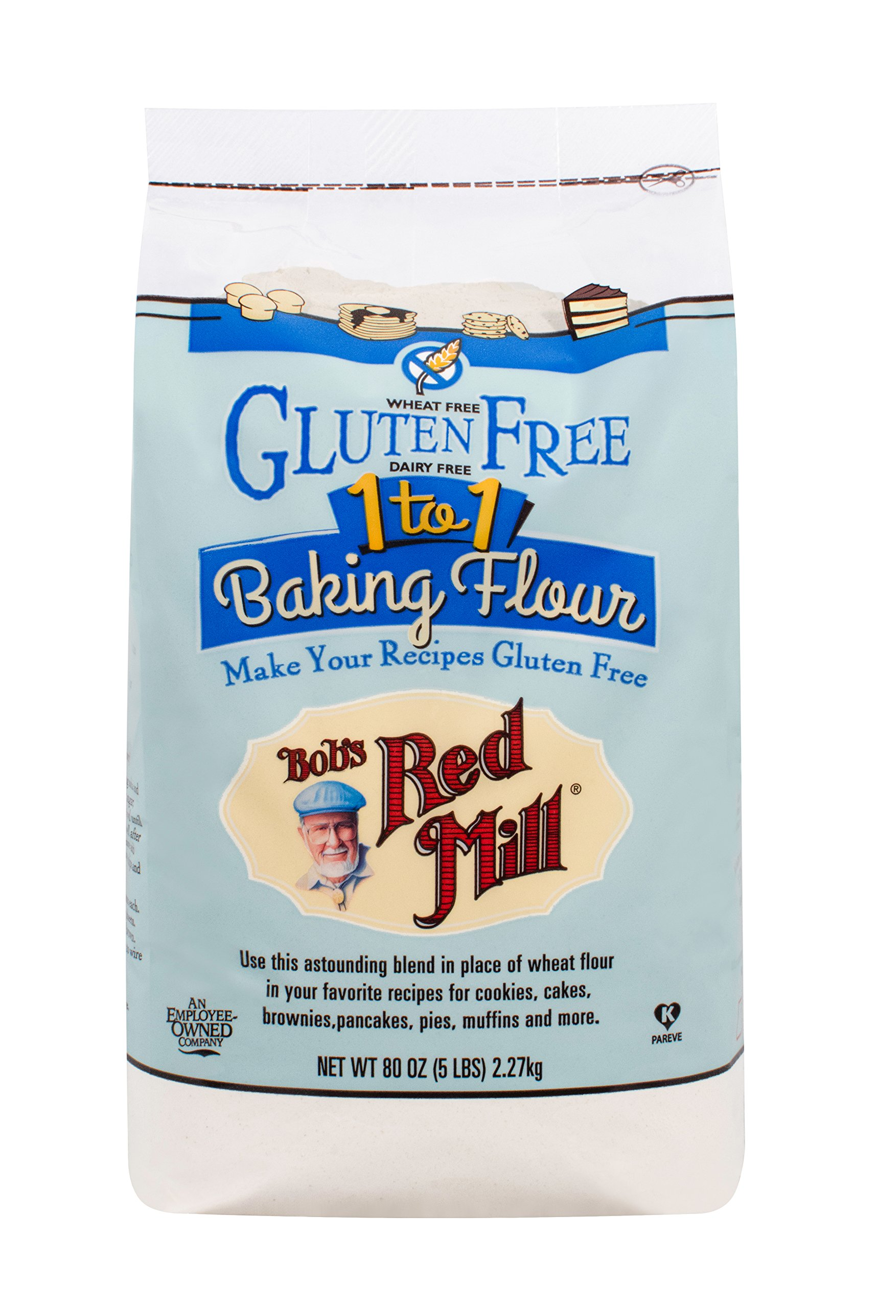 Bob's Red Mill Gluten Free 1-to-1 Baking Flour, 5 Pound by Bob's Red Mill