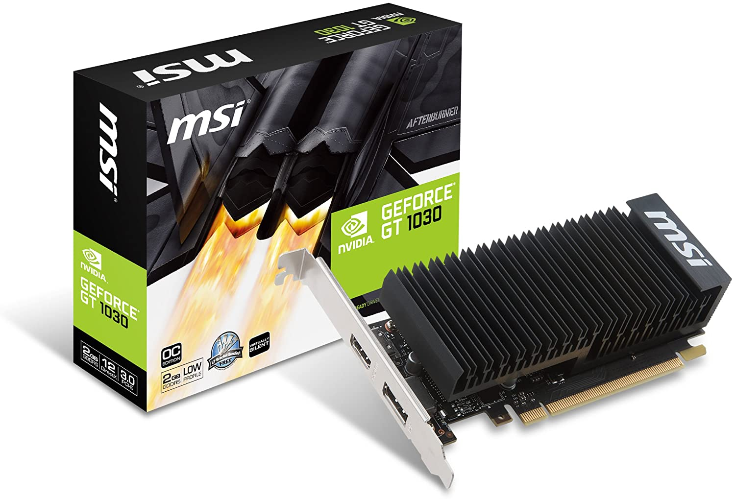 MSI Graphic Cards GT 1030 2GH LP OC