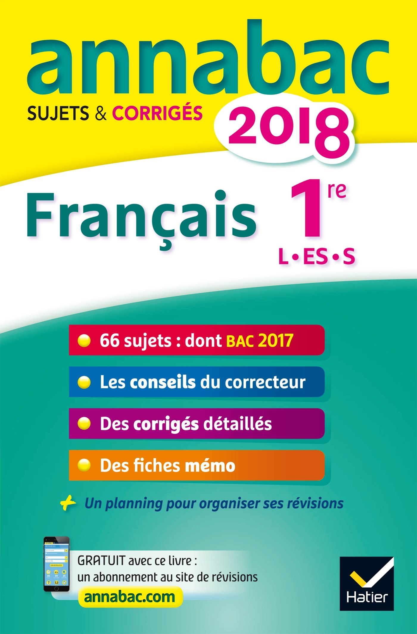 Français 1re séries L, ES, S : Sujets et corrigés (French) Paperback – August 18, 2017