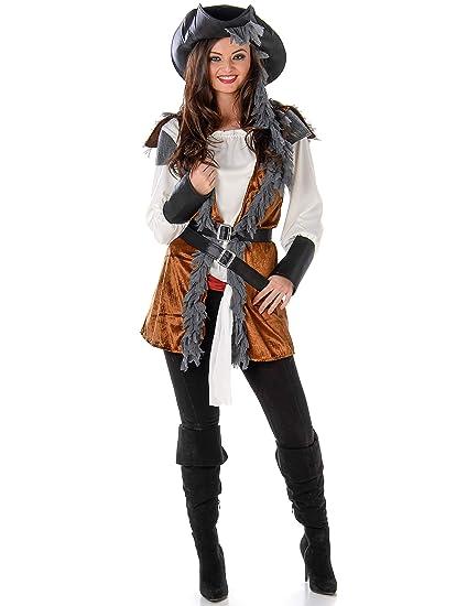 Disfraz de Pirata rebelde mujer M: Amazon.es: Juguetes y juegos