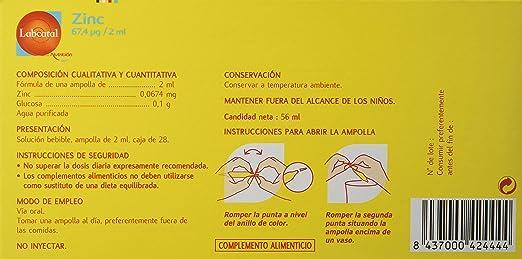 Labcatal Nutrición, Zinc, 28 Amp/ 2ml: Amazon.es: Salud y cuidado personal