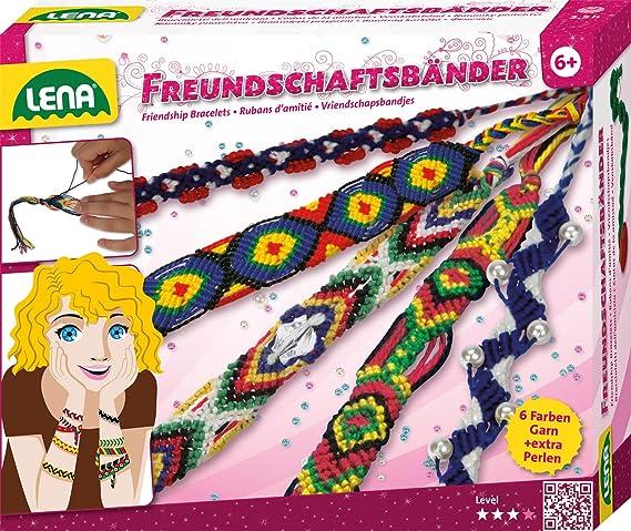 Lena 42013 - Bastelset Freundschaftsbänder, Komplettset mit 6 ...