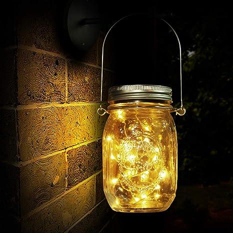 Lámpara de Decoración Solar para Jardín, Luz Solar, 20 LED, Lámpara de Ahorro de Energía e Impermeable para Interiores/Exteriores, Mesa, Festival y ...