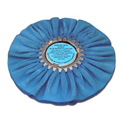 Zephyr AWB 58-8 CD Blue Baron Clear Dip Airway Buffing Wheel: Automotive
