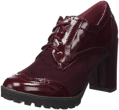 5de98f52 XTI Botin Sra C. Combinado Burdeos, Zapatos de Cordones Oxford para Mujer:  Amazon.es: Zapatos y complementos