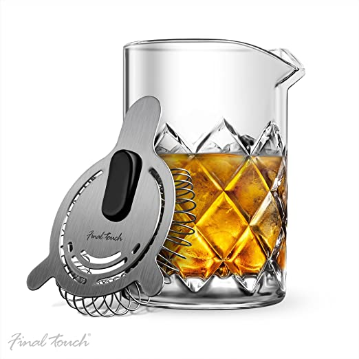 New Yarai Hawthorne Strainer Cocktail Mixing Classic Glass Pitcher Bar Shaker