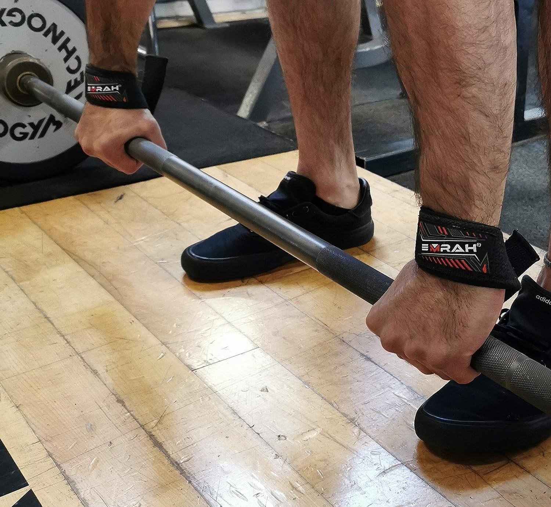Extra Lange Handgelenkgurte Crossfit Gym Straps EMRAH Gepolsterte Hebeb/änder f/ür Gewichtheben und Powerlifting