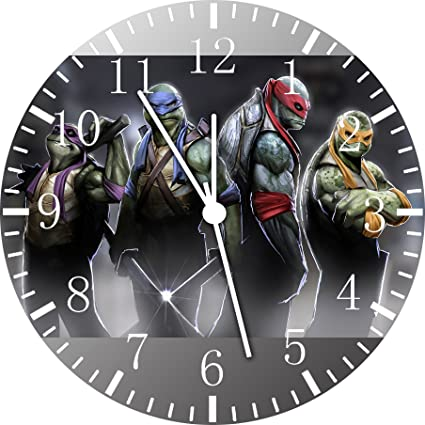 Reloj de pared de las Tortugas ninja 25,4 cm color y para pared A472